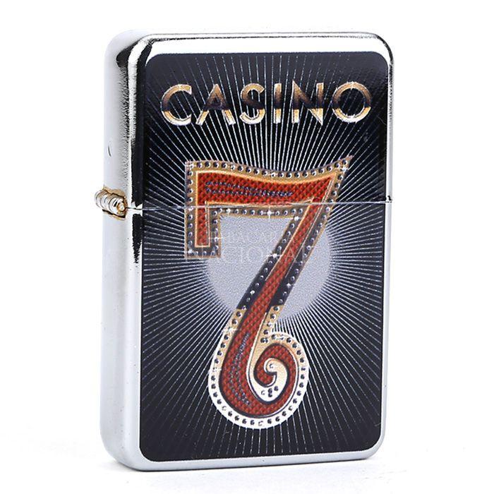 Isqueiro Star Cromado - Casino 1 (1 Face)