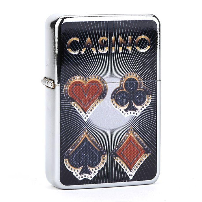 Isqueiro Star Cromado - Casino 2 (1 Face)