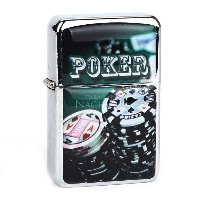 Isqueiro Star Cromado - Poker (2 Faces)