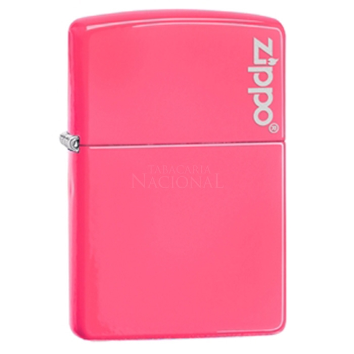 Isqueiro Zippo 28886ZL - Rosa Neon com Logo Zippo