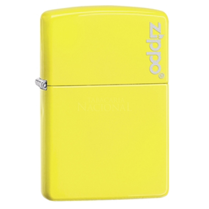 Isqueiro Zippo 28887ZL - Amarelo Neon com Logo Zippo