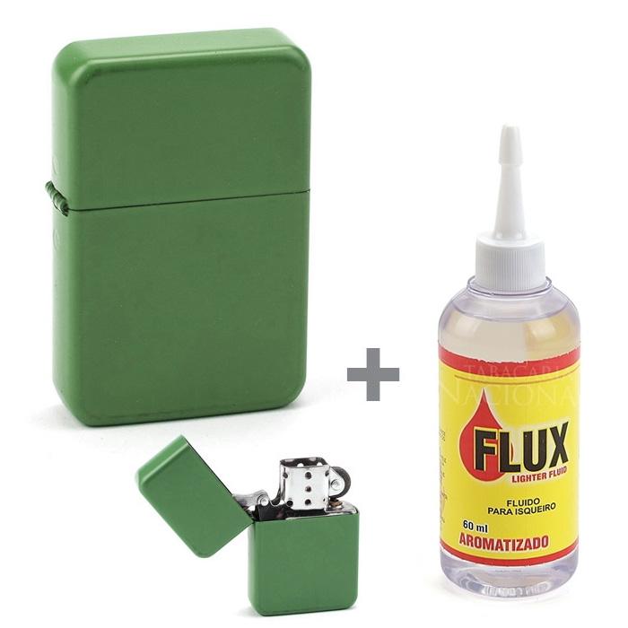Kit Isqueiro Star Verde + Fluído