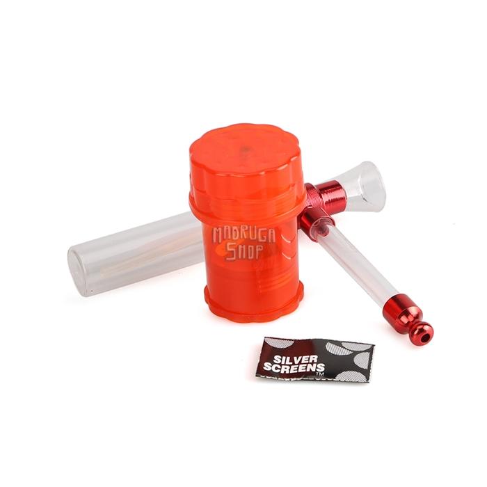 Kit Water Pipe OST-01 - Vermelho (Com Dichavador)