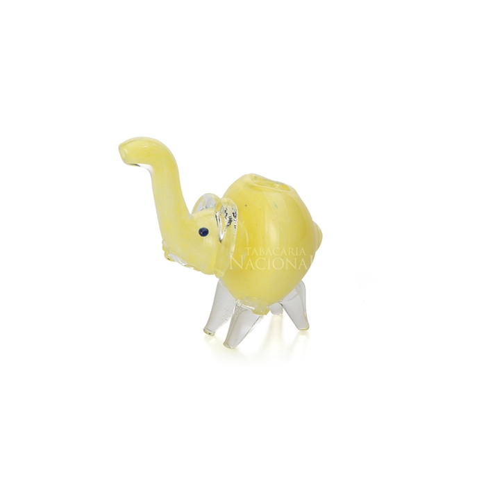 Pipe de Vidro Animale - Elefante Amarelo 01´´
