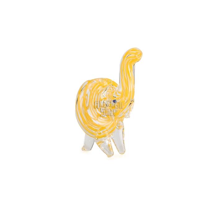 Pipe de Vidro Animale - Elefante Amarelo 02