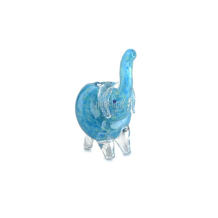 Pipe de Vidro Animale - Elefante Azul 02´