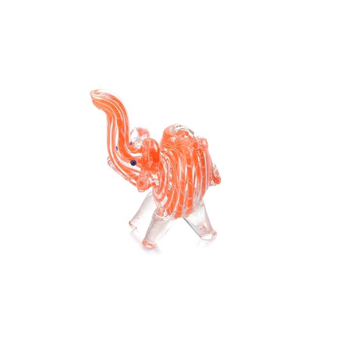 Pipe de Vidro Animale - Elefante Vermelho Claro´´