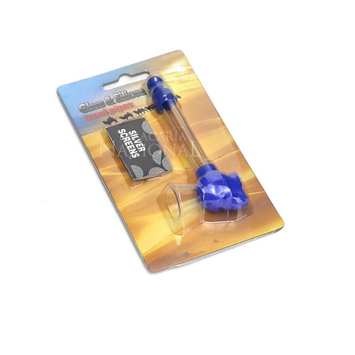 Pipe de Vidro Caveira - Azul