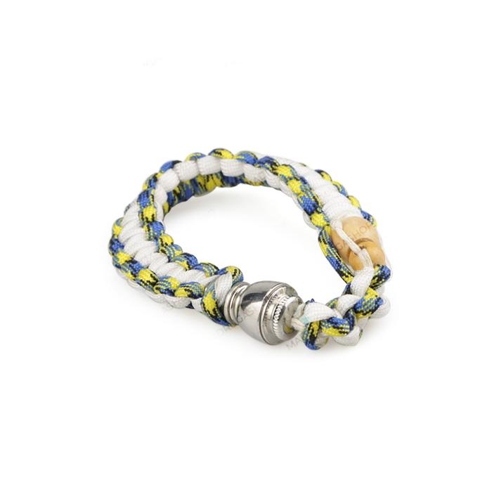 Pipe Pulseira - Branco Azul e Amarelo