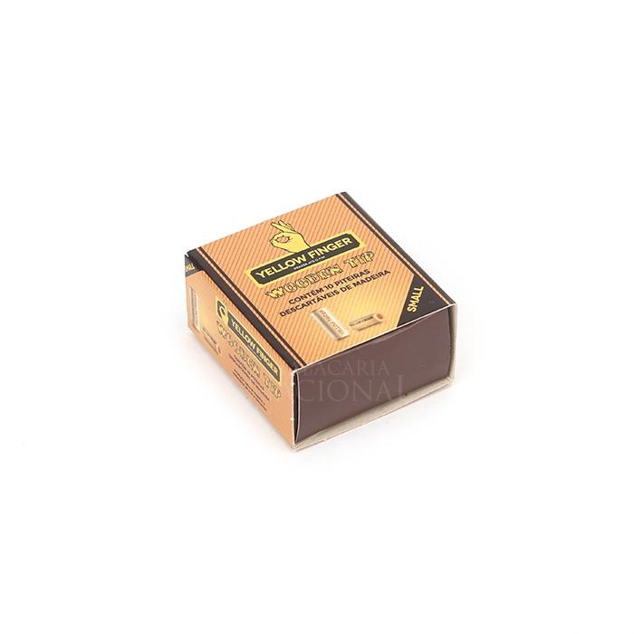 Piteira de Madeira Yellow Finger Small (Display com 20 Caixas)