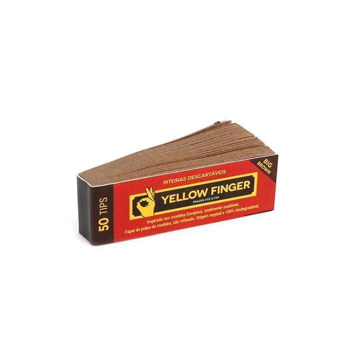 Piteira de Papel Yellow Finger - Big Brown (Caixa com 25)