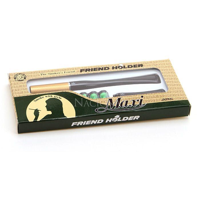 Piteira para Cigarro Comum Friend Holder Maxi (Com 1 Piteira Longa e uma Curta) - Dourada´´