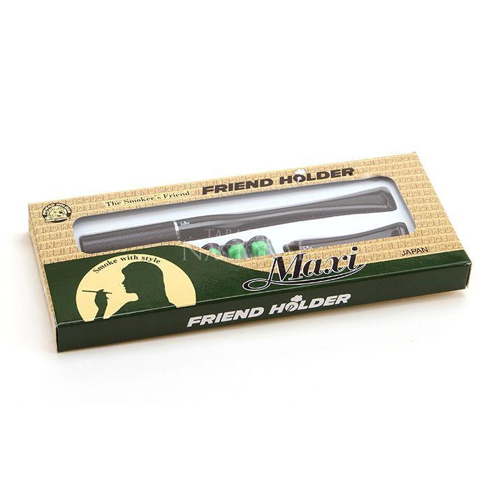 Piteira para Cigarro Comum Friend Holder Maxi (Com 1 Piteira Longa e uma Curta) - Preta