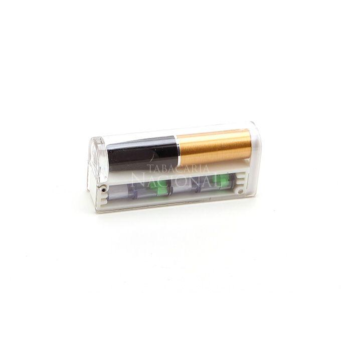 Piteira para Cigarro Comum Friend Holder Mini Pocket (Com 3 cartuchos descartáveis) - Dourada´´