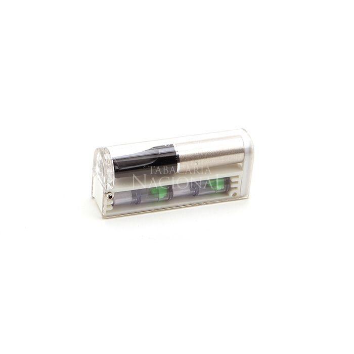 Piteira para Cigarro Comum Friend Holder Mini Pocket (Com 3 cartuchos descartáveis) - Prata´´