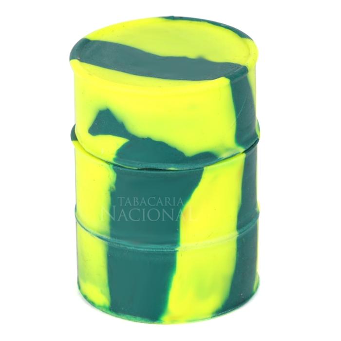 Pote de Silicone Slick Mona Brisa Barril - Verde Mesclado