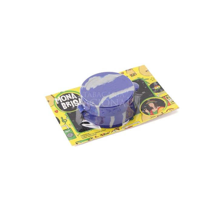 Pote de Silicone Slick Mona Brisa Divisória Grande - Azul Mesclado