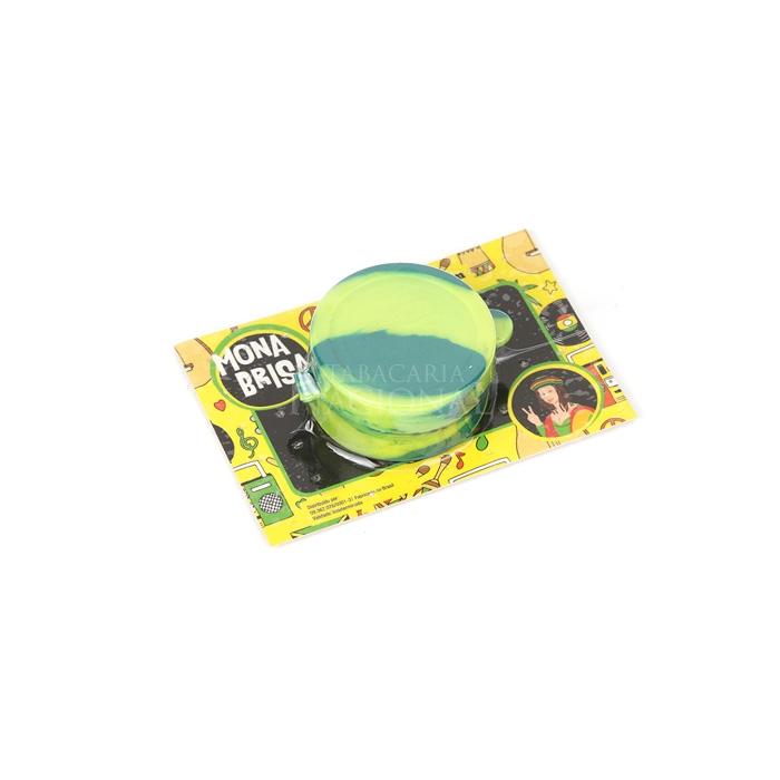 Pote de Silicone Slick Mona Brisa Divisória Grande - Verde Mesclado