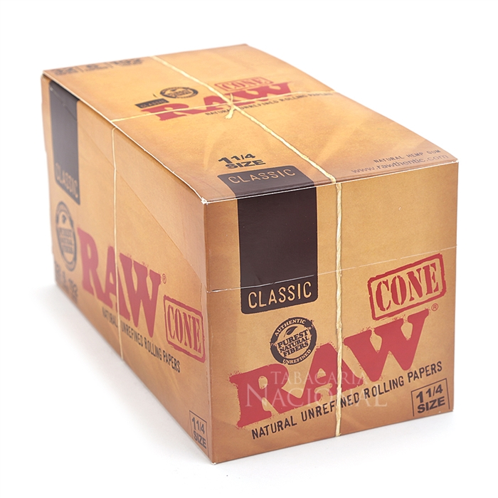 Seda Cone RAW 1 1/4 (Display com 32 Pacotes)