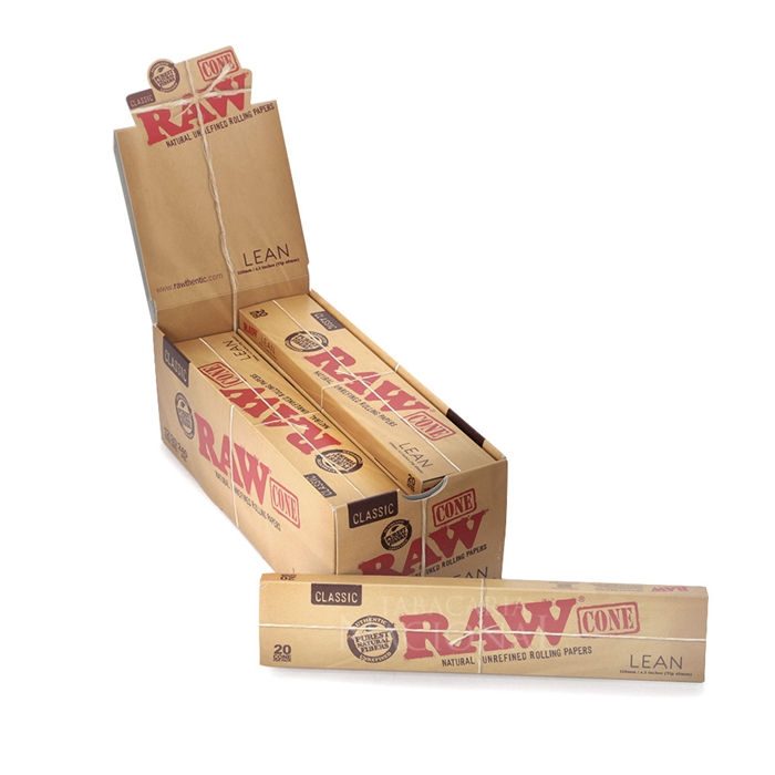 Seda Cone RAW Lean King Size (12 Caixas com 20 - 240 cones)