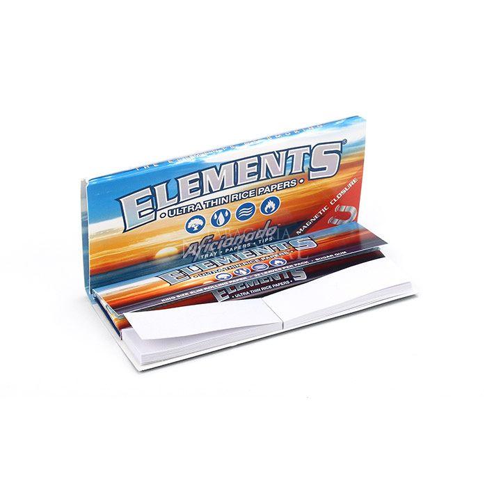 Seda Elements King Size com Piteira de Papel e Bandeja (Un.)´