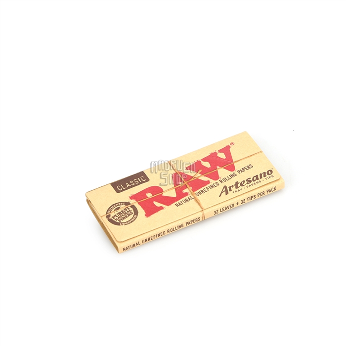 Seda RAW Artesano King Size Slim com Piteira (Display com 15)