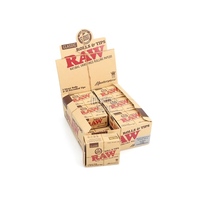 Seda RAW Masterpiece Rolls com Piteira Prerolled (Display com 12)