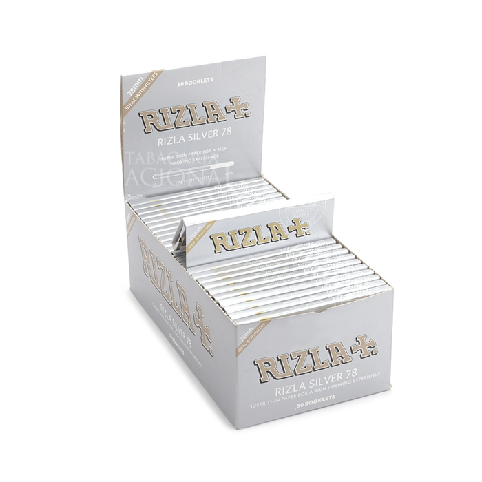 Seda Rizla Silver 78mm (Display com 50)