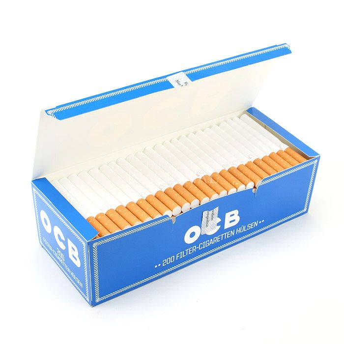 Tubo de Papel para Cigarros OCB - Cx com 200