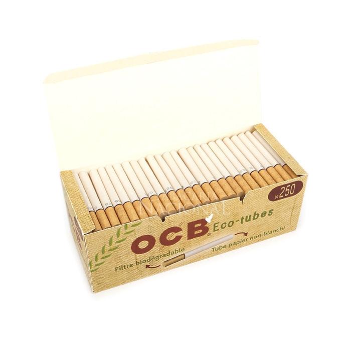 Tubo de Papel para Cigarros OCB Orgânico Com Filtro - Cx com 250