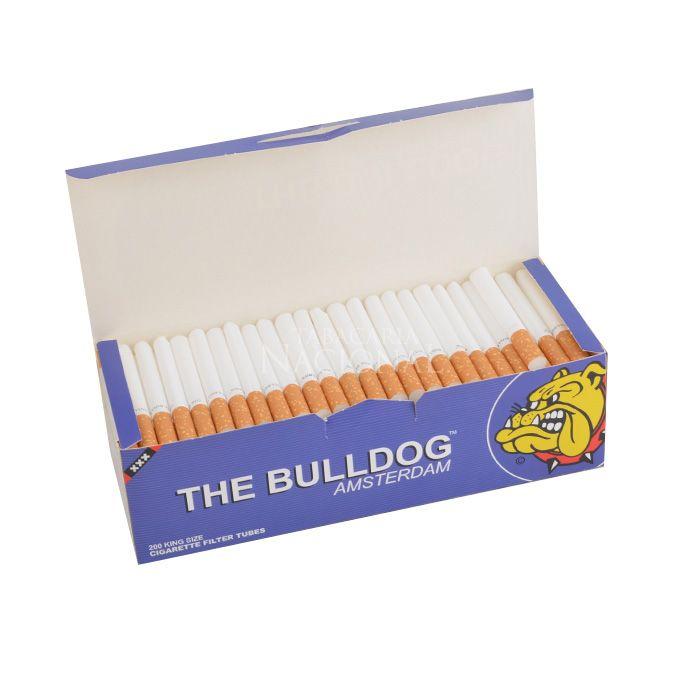 Tubo de Papel para Cigarros The Bulldog com Filtro - CX com 200