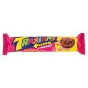 Biscoito Recheado Morango Trakinas 136g