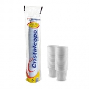 Copo Descartável 50ml Branco Cristalcopos (100 unidades)