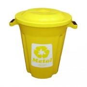 Lixeira Amarela 62L Plasvale Recicle