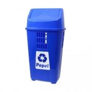 Lixeira Azul 50L Plasvale Recicle