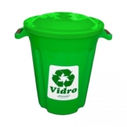 Lixeira Verde 62L Plasvale Recicle