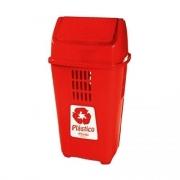 Lixeira Vermelha 50L Plasvale Recicle