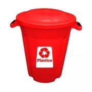 Lixeira Vermelha 62L Plasvale Recicle
