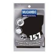 Luva de Latex preta M sem forro Mucambo