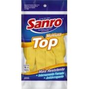 Luva de Latex Top amarela M Sanro