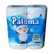 Papel Higiênico 10cmX30m Folha Simples Paloma 4 rolos