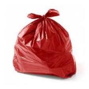Saco de Lixo vermelho 60L (100 unidades)