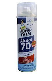 Álcool Aerosol 70% 300ml Super Dom