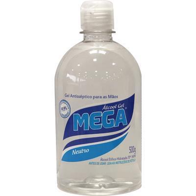 Álcool em Gel 70% 500ml Assepsia Mega