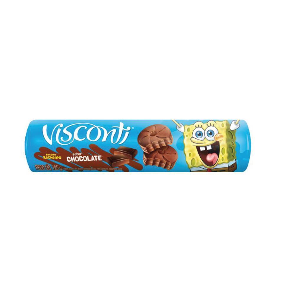 Biscoito Recheado Chocolate Visconti 125g