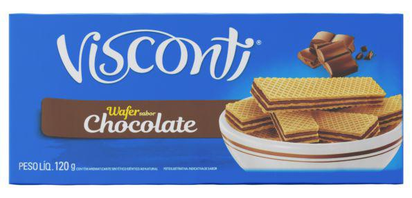 Biscoito Wafer Chocolate Visconti 120g