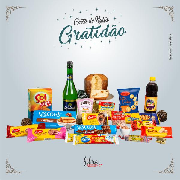 Cesta de Natal Gratidão Fibra Alimentos