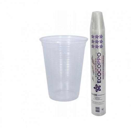 Copo Descartável 150ml Transparente Ecocoppo (100 unidades)