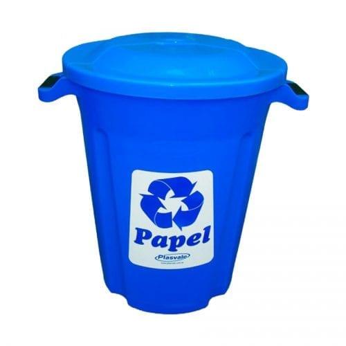 Lixeira Azul 62L Plasvale Recicle