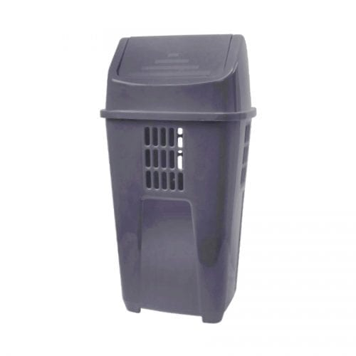 Lixeira Cinza 50L Plasvale Recicle
